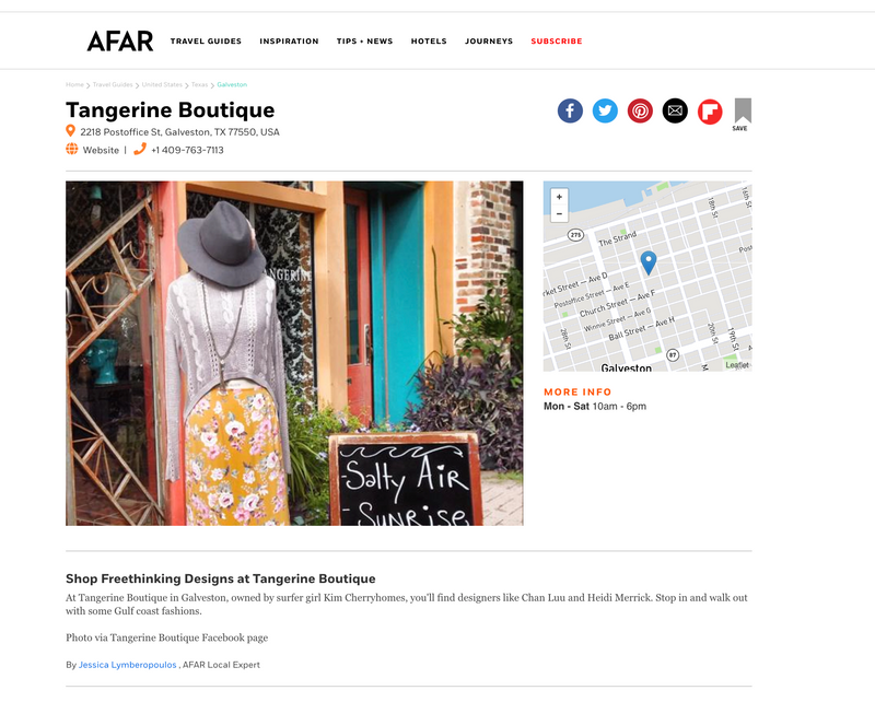 AFAR - Shop freethinking design at Tangerine Boutique