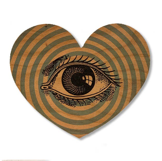 Heart Eye - Wood Card