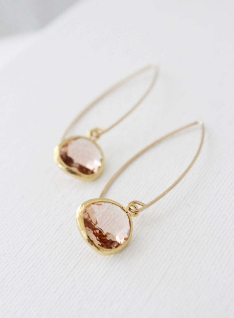 E163CHAMP Drop Earrings