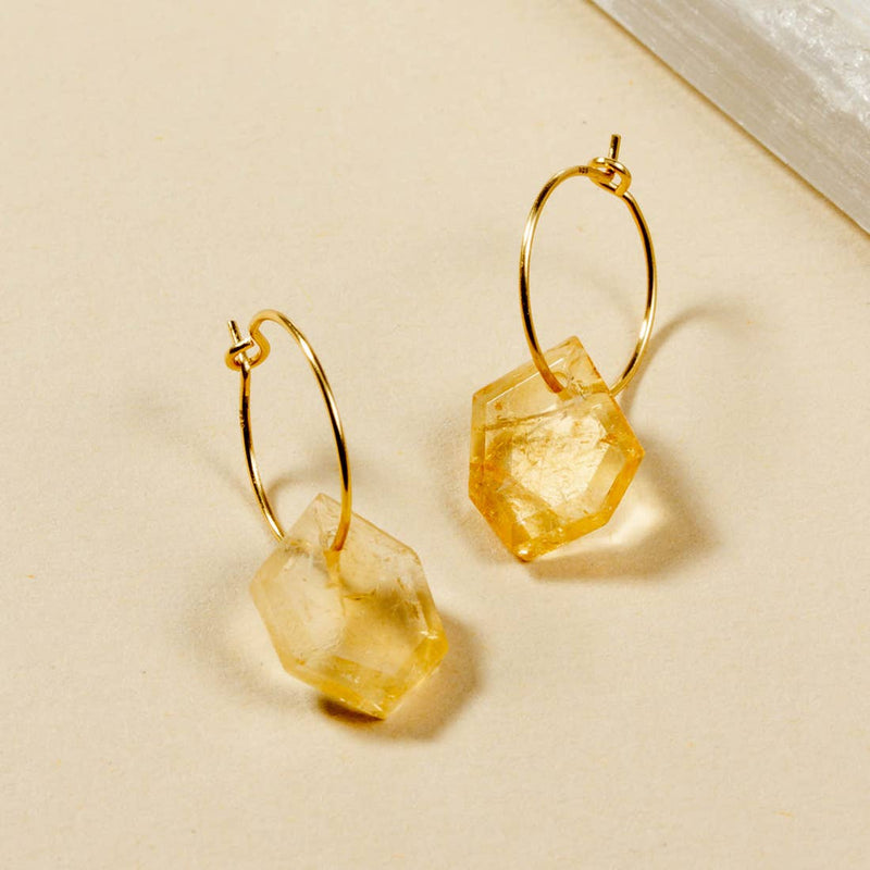 ge·om·e·try Mini Hoop Earring - Gold