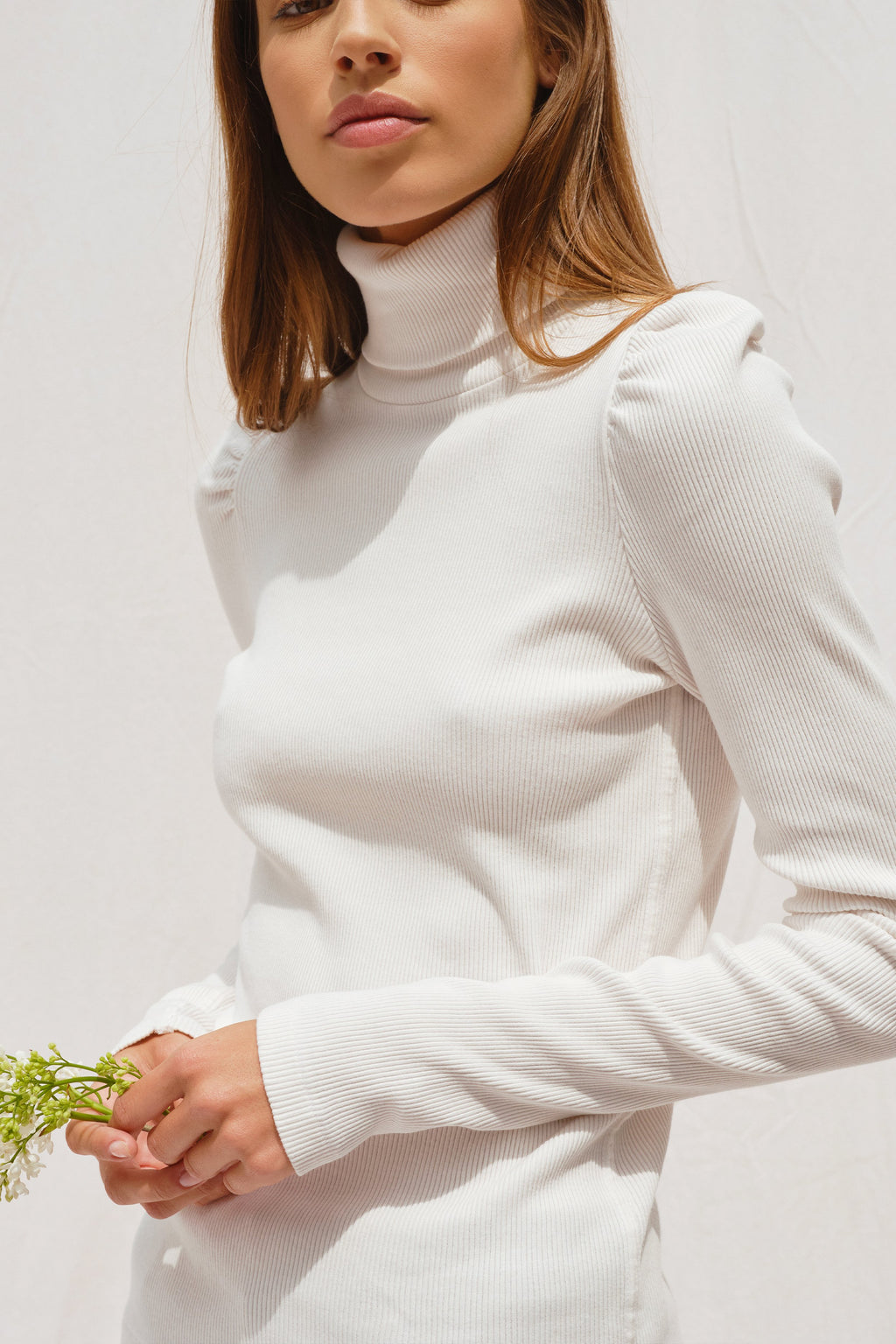 AMO white turtleneck