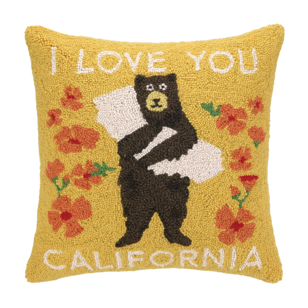 I Love You California Bear Hook Pillow