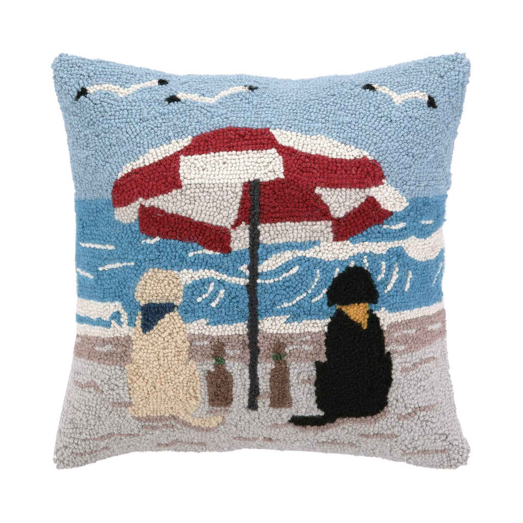 Beach Labrador Dogs Hook Pillow