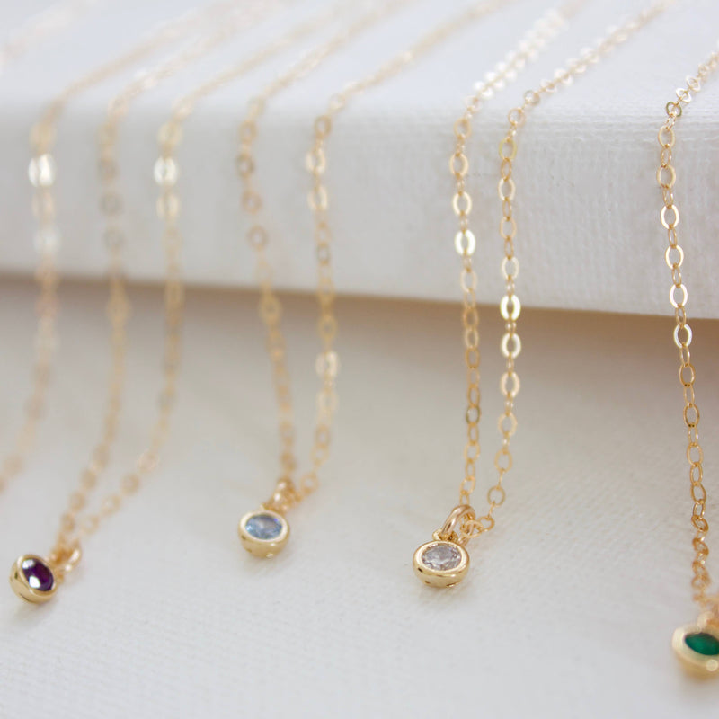 Miniature Birthstone Necklace