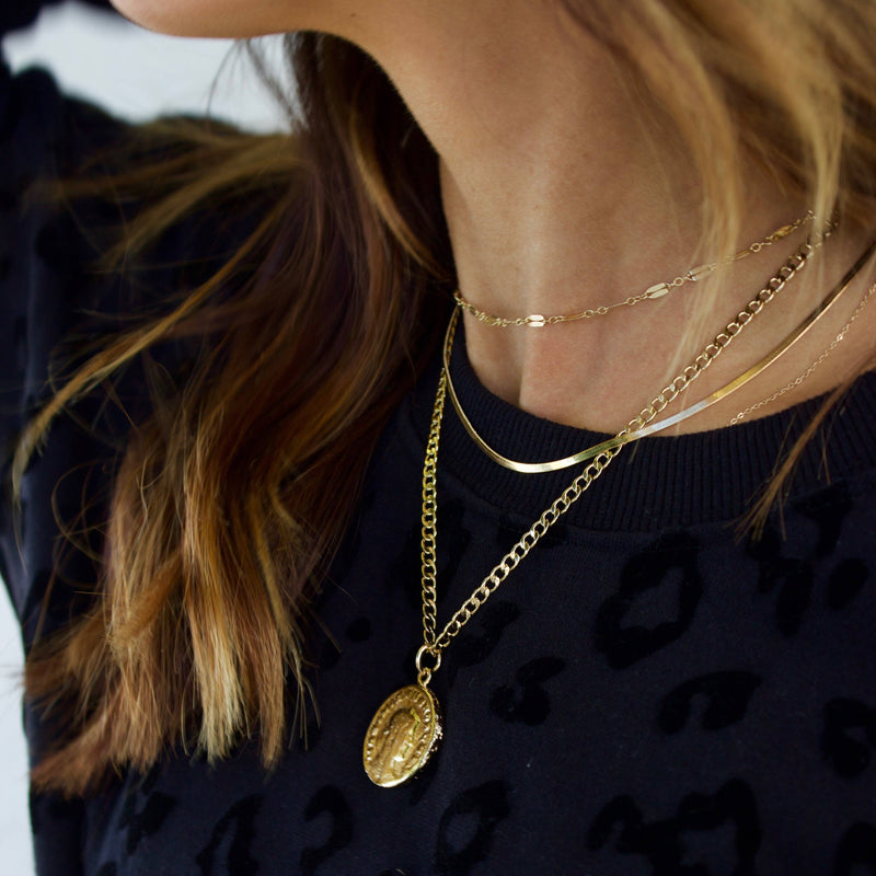 Lexington Chain with Vintage Coin Necklace