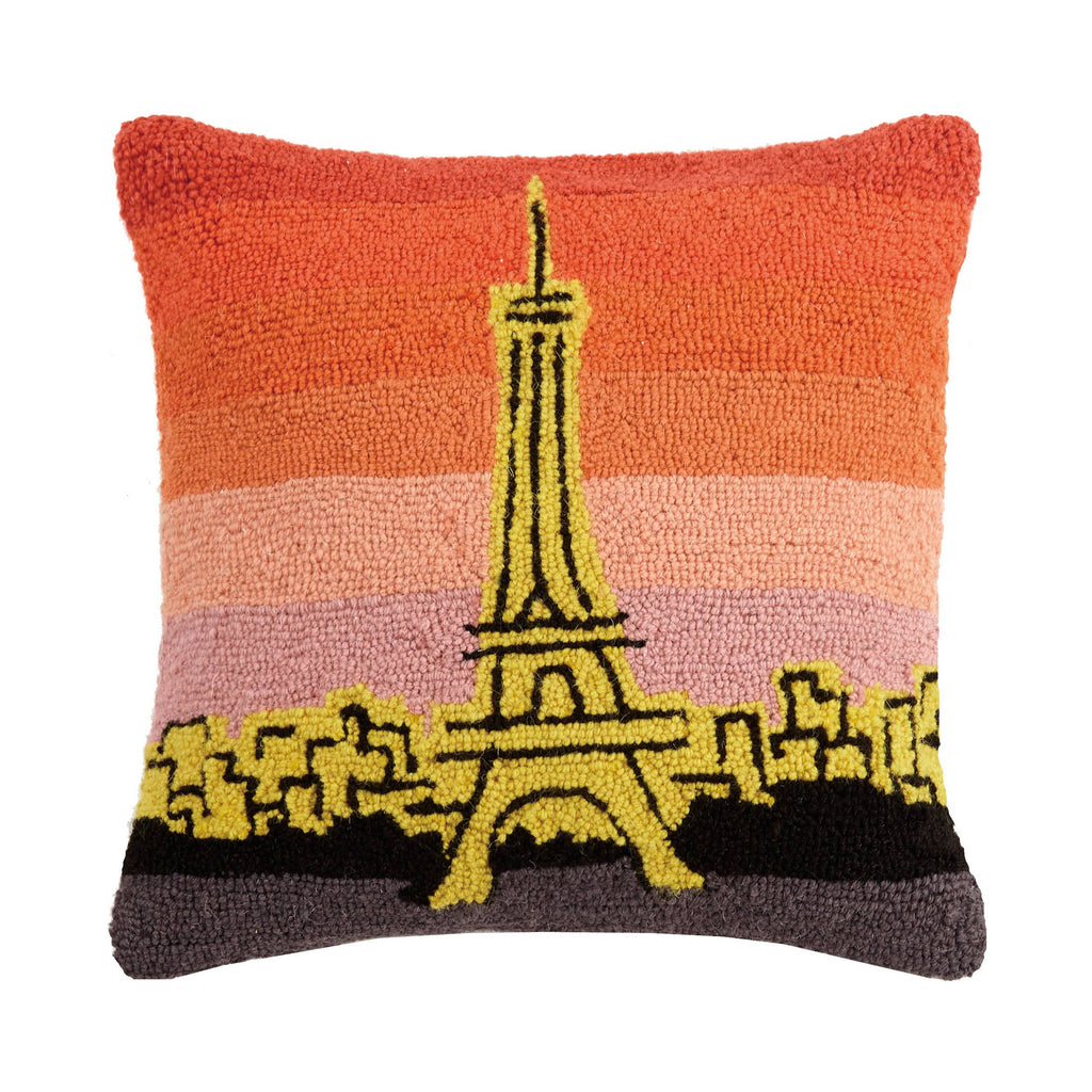 Paris At Sunset Hook Pillow
