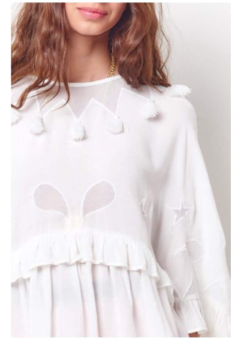 Paloma Tassel Cut Out Top
