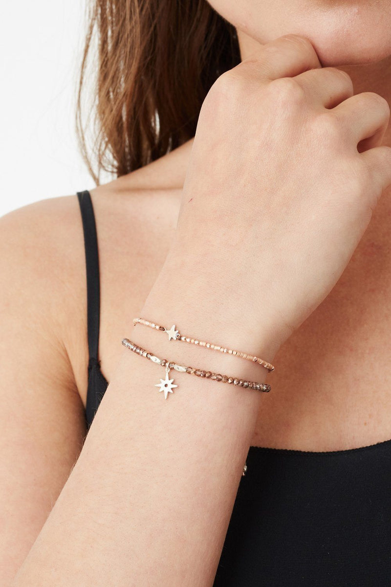 Rose Gold Mix Astral Pull-Tie Bracelet Set