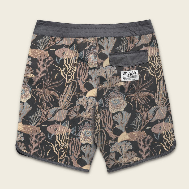 Stretch Brubaker Board Shorts Exuma Print