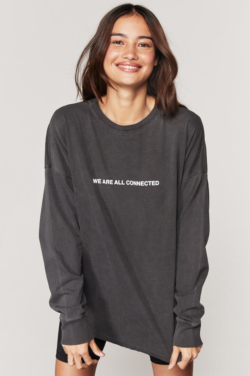We Are Connected Oversized Long Sleeve