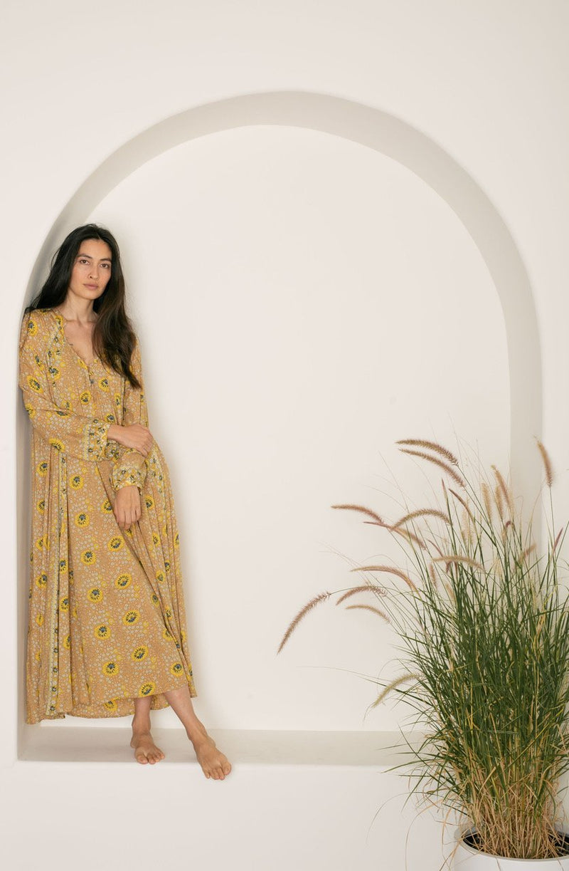 Fiore Maxi- Vintage Flowers Gold