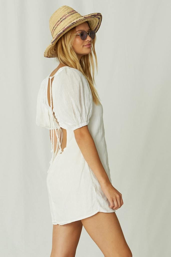 Paraguay Mini Dress in white