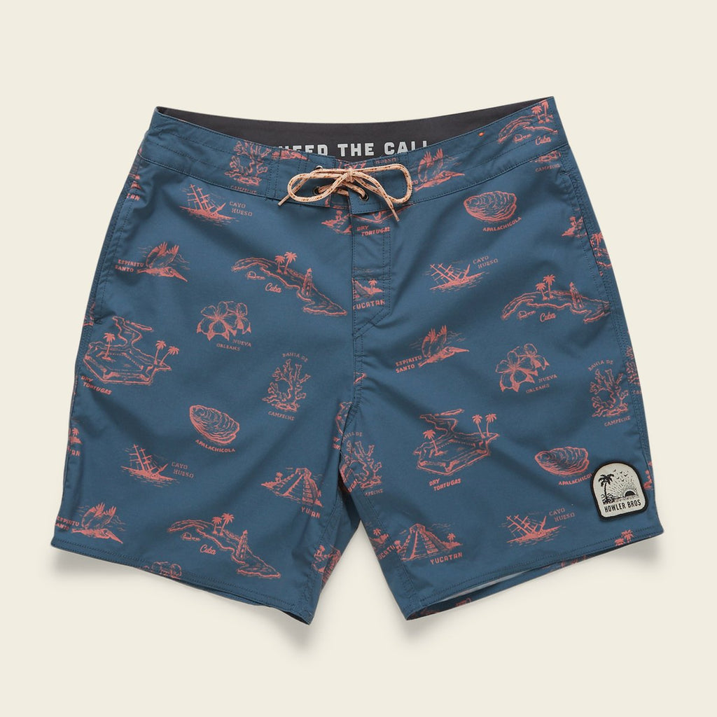 Buchannon Boardshorts - Gulf Destinations Dark Slate Blue