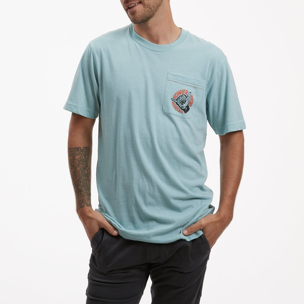Select Pocket T - Shaka The Monkey Seafoam