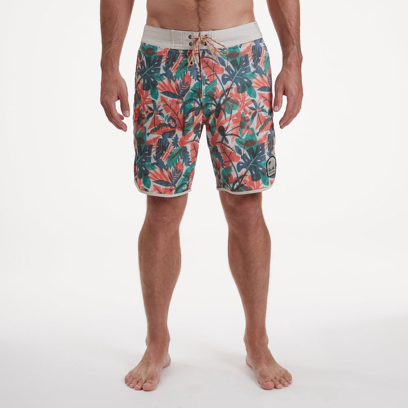 Stretch Bruja Boardshorts - Cloud Forest Sherbert