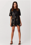 BLACK WATER MINI DRESS