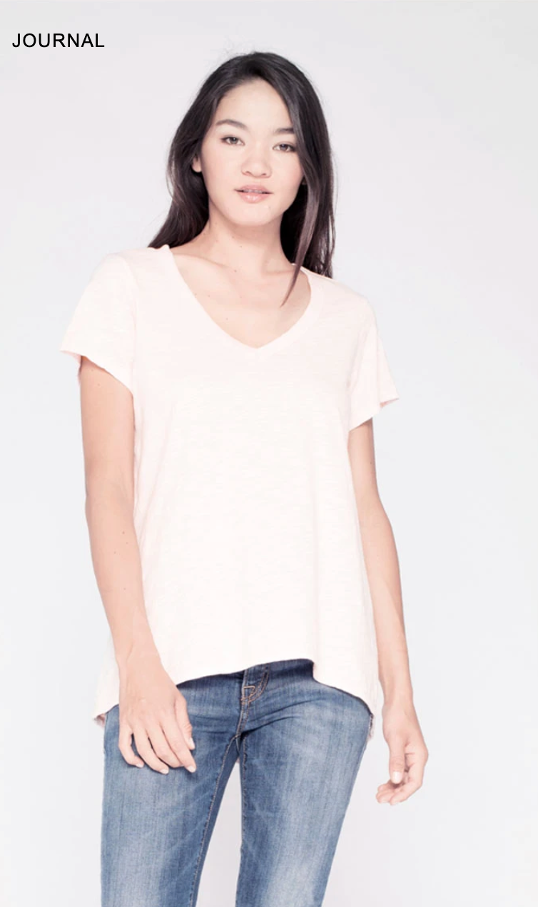 Sexy Deep V Neck Shrunken Boyfriend T