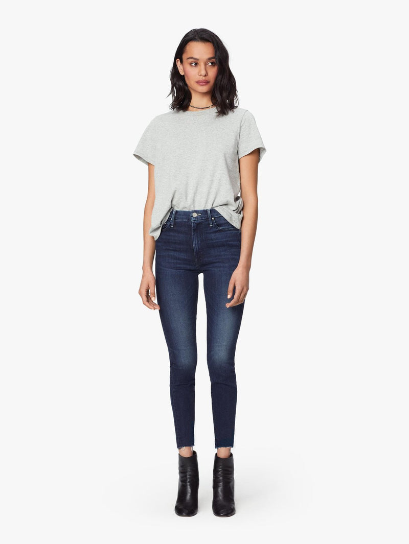 High Waisted Looker Ankle Fray - Tongue In Chic