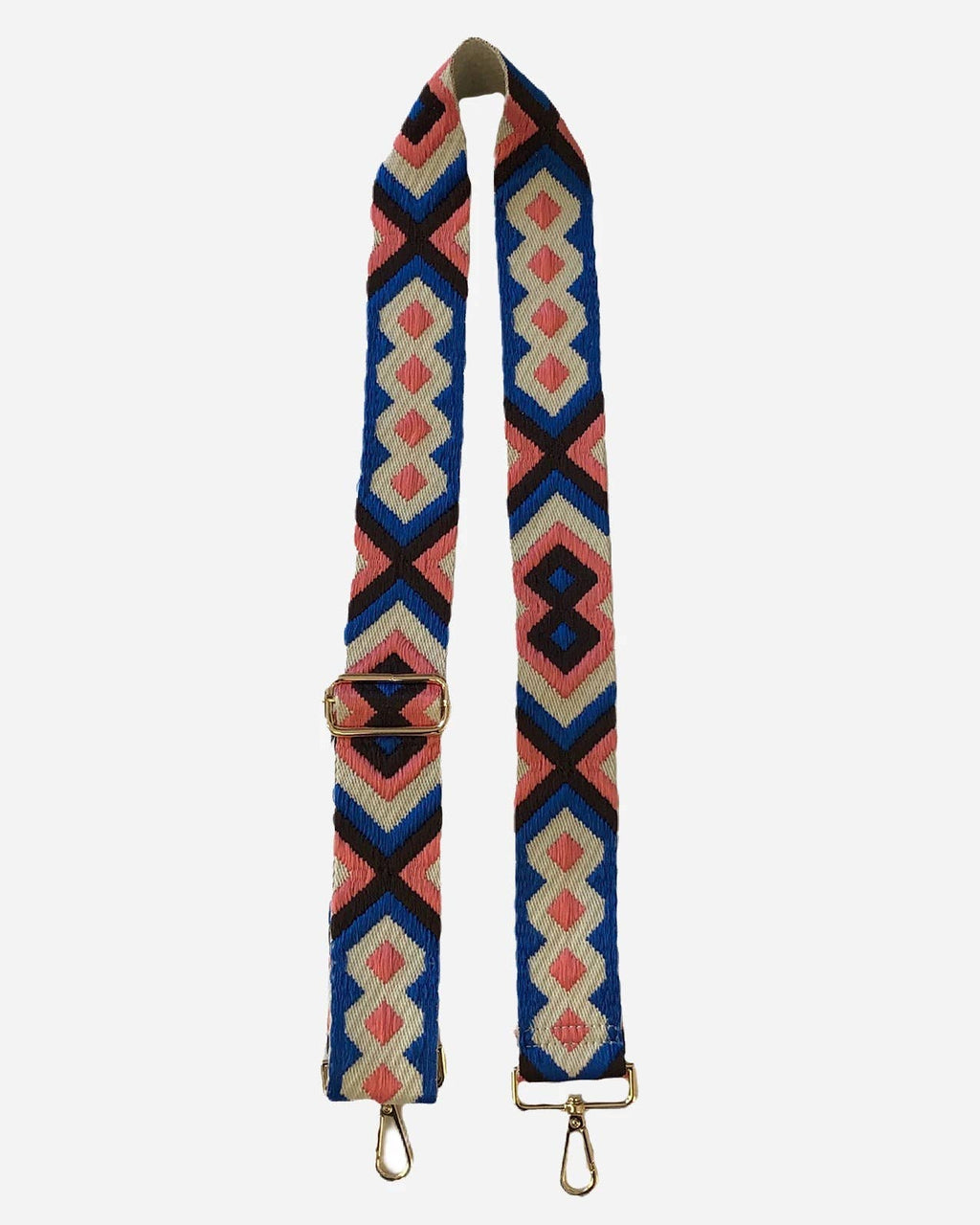 Aztec Strap - Blue and Pink