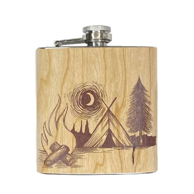 6oz Camp Fire Flask