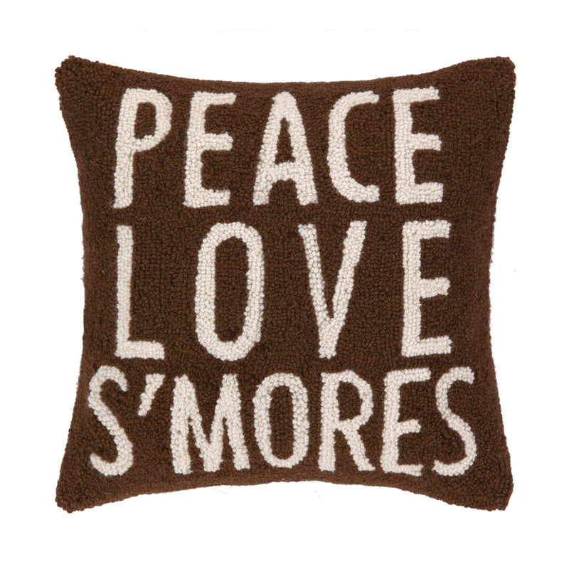 Peace Love S'mores Hook Pillow