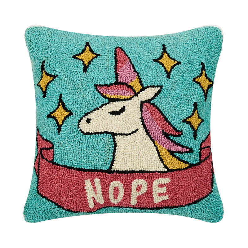 Nope Unicorn Hook Pillow