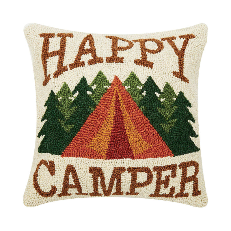 Happy Camper Hook Pillow