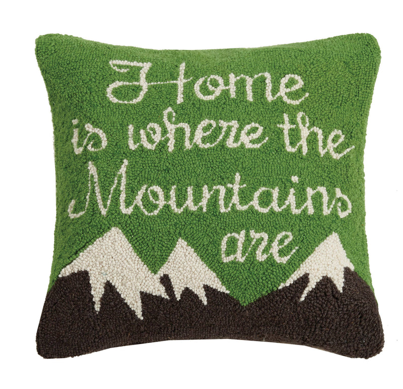 Home Is Where The Mountains Are Hook Pillow