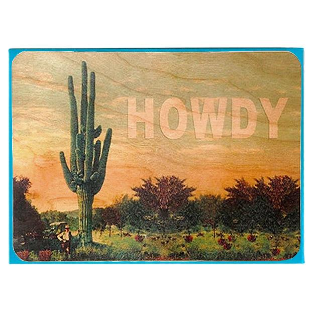 Howdy - Wood Card