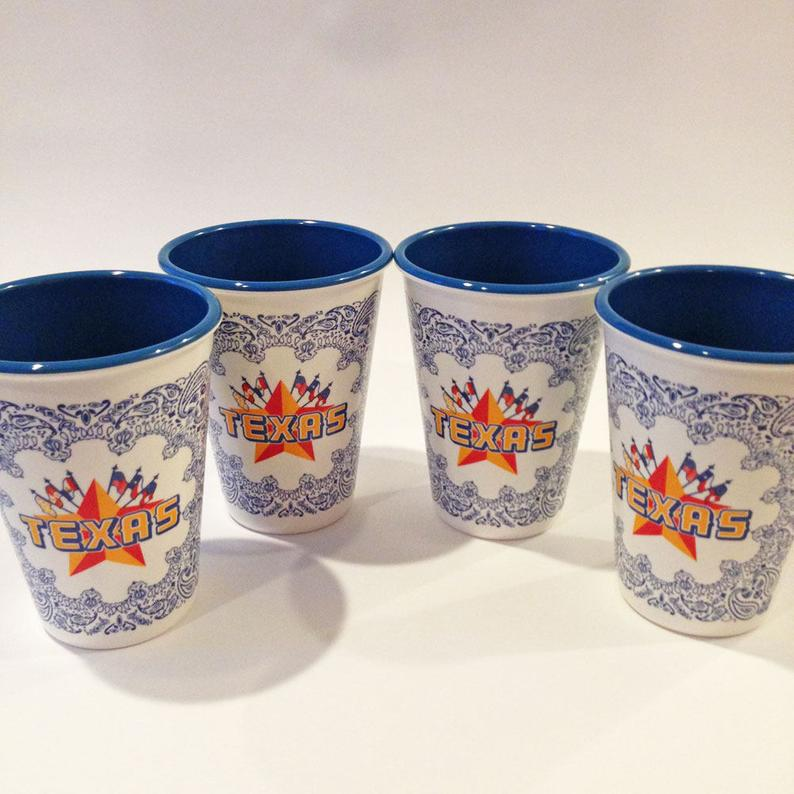 Texas Tumblers - Set of 4