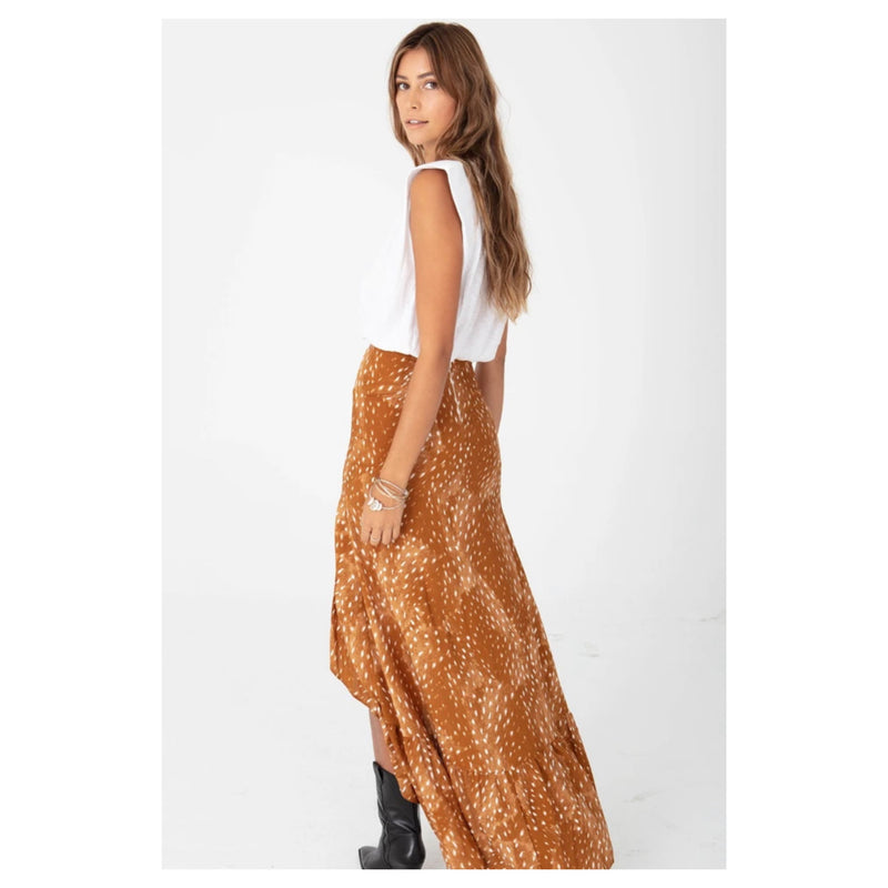 The HOLA Skirt in Carmel Bambi