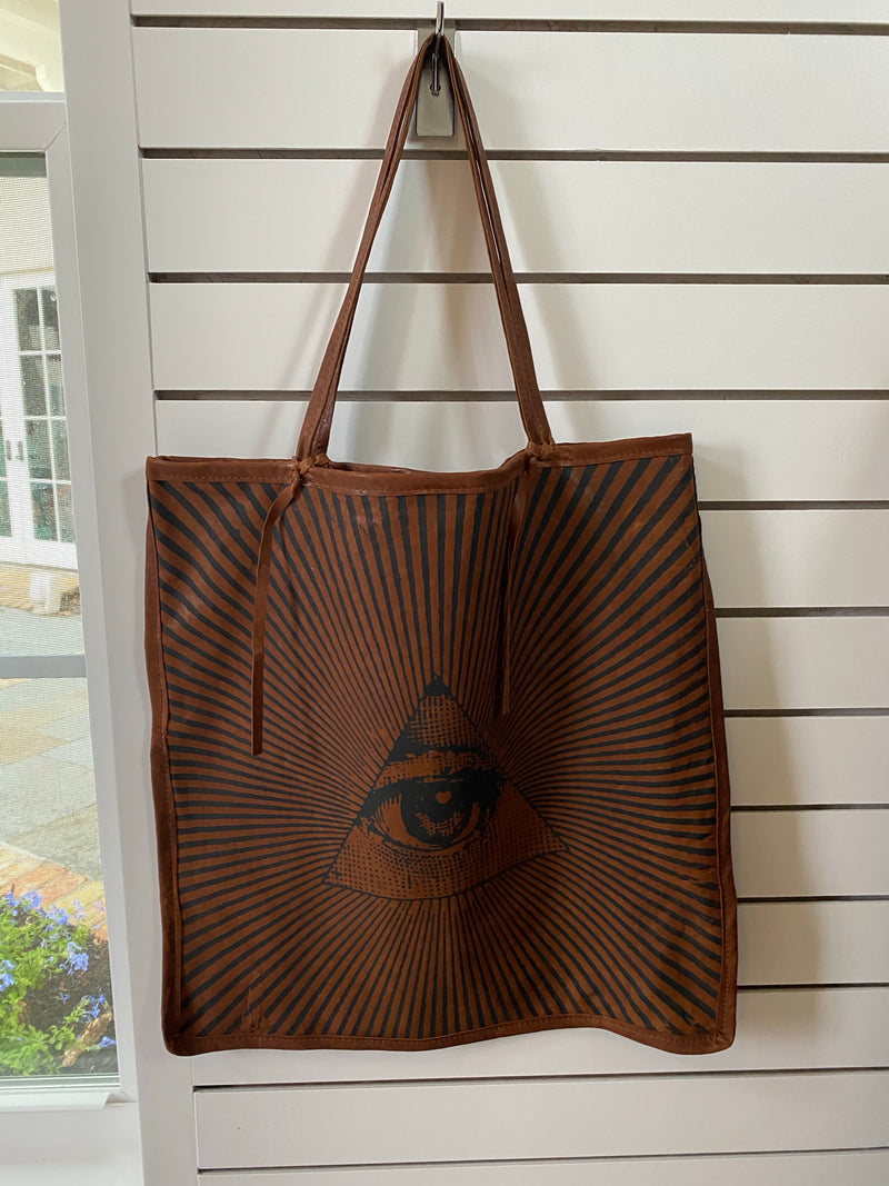 The Eye Leather Soft Tote