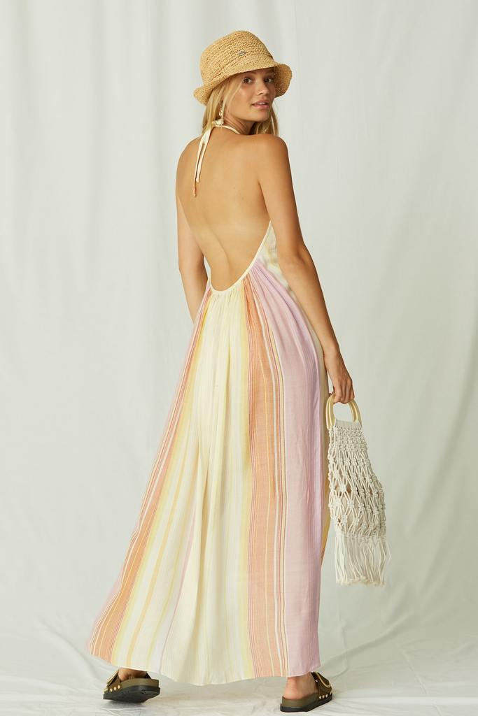 Covado Maxi Dress in Carnaval Stripe Sunset