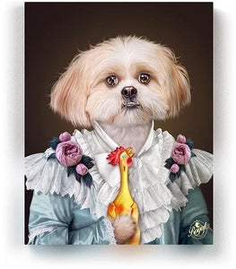 THE LADY - Pet Portraits On Canvas | Royal Pet Pawtrait