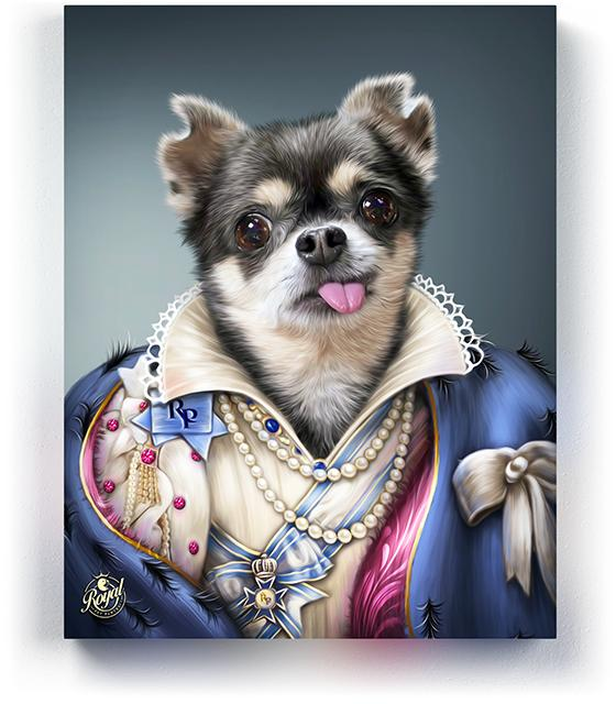 Pet Portraits on Canvas - Royal Pet Pawtrait