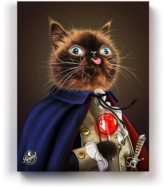 THE PAWSIDENT WASHINGTON - Pet Portraits on Canvas | Royal Pet Pawtrait