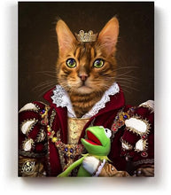 Load image into Gallery viewer, THE QUEEN - Pet Portraits On Canvas | Royal Pet Pawtrait