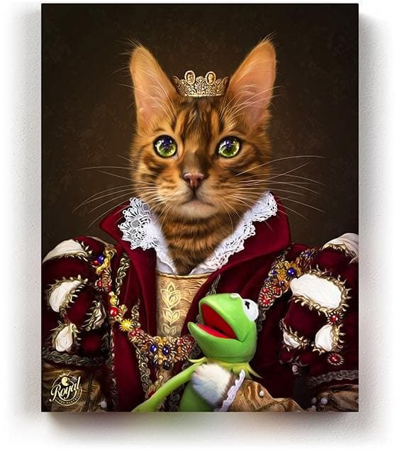 THE QUEEN - Pet Portraits On Canvas | Royal Pet Pawtrait