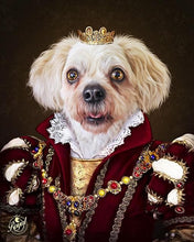 Load image into Gallery viewer, Pet Portraits on Canvas - THE QUEEN - ROYAL PET PORTRAITS - Royal Pet Pawtrait