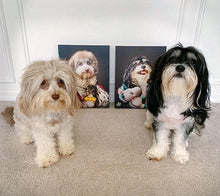 Load image into Gallery viewer, Pet Portraits on Canvas - THE MAJESTIC - ROYAL PET PORTRAITS - Royal Pet Pawtrait