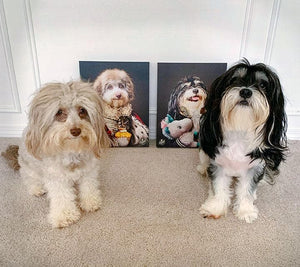 Pet Portraits on Canvas - THE MAJESTIC - ROYAL PET PORTRAITS - Royal Pet Pawtrait