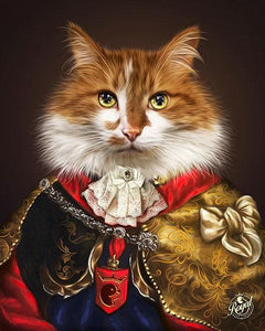 Pet Portraits on Canvas - THE PRINCE - ROYAL PET PORTRAITS - Royal Pet Pawtrait