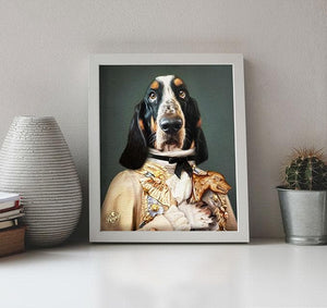 Dog Portrait on Canvas - Royal Pet Pawtrait
