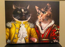Load image into Gallery viewer, Pet Portraits on Canvas - THE ROYAL FAMILY - ROYAL MULTI-PET PORTRAITS - Royal Pet Pawtrait