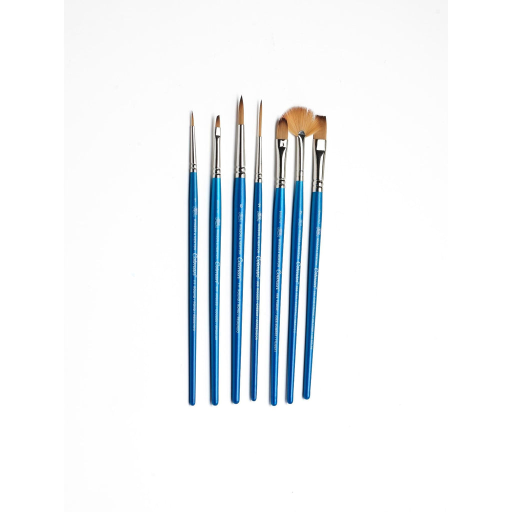 5 Pack Round 0, 2, /& 6, Rigger 1, One Stroke 1//2 Winsor /& Newton Cotman Short Handle Brush
