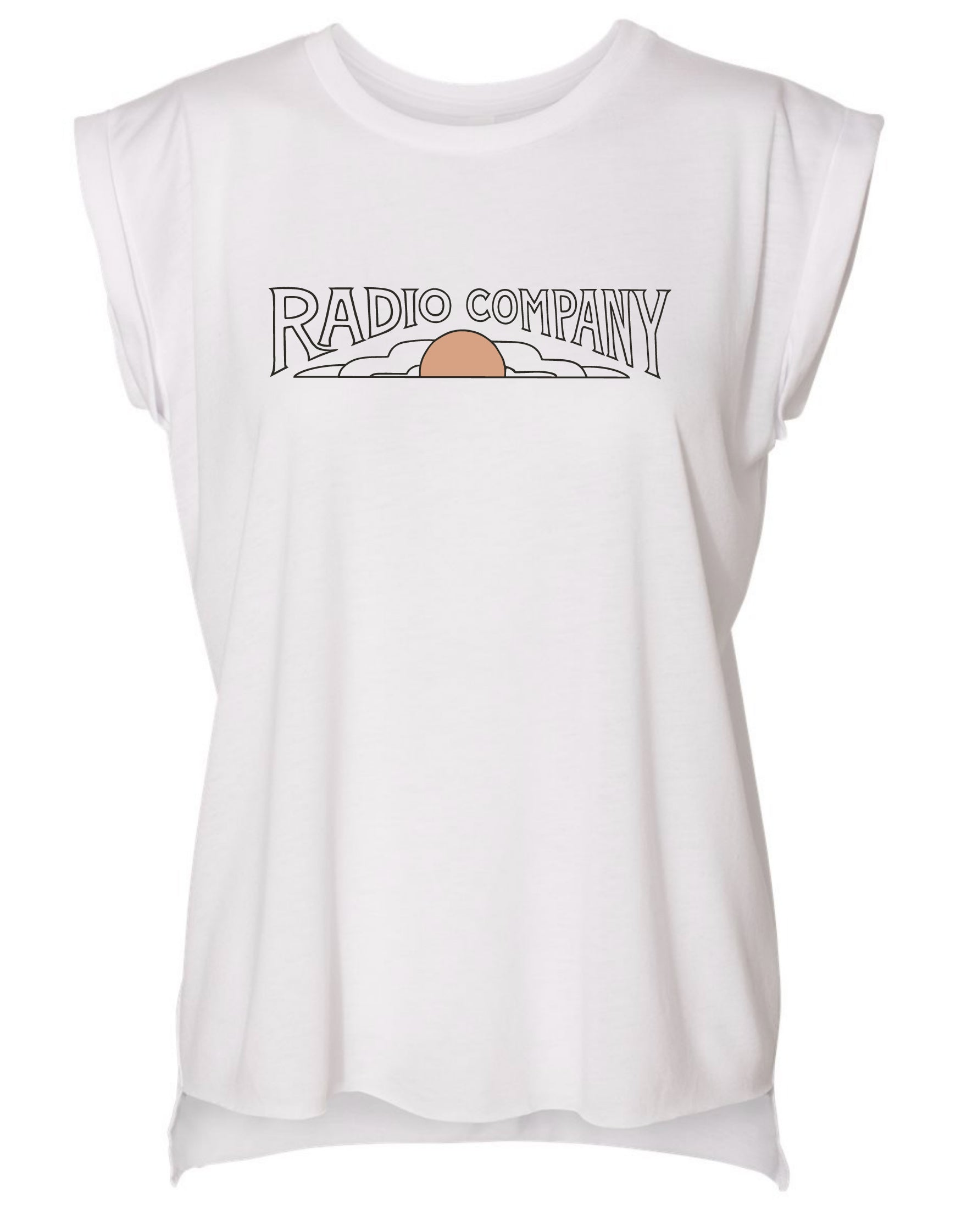 Radio Company Vol. 2 Women's Rolled Cuff Tee - White