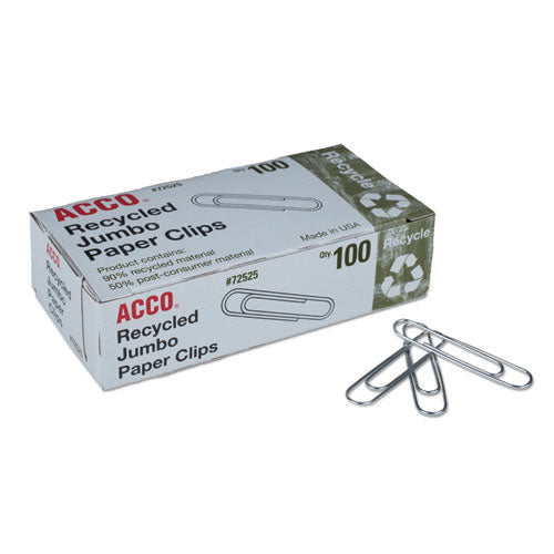 Paper Clips, Jumbo, Silver, 1,000-pack