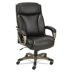 Alera Veon Series Executive High-back Leather Chair, Supports Up To 275 Lbs., Black Seat-black Back, Graphite Base