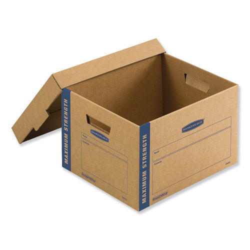Smoothmove Maximum Strength Moving Boxes, Medium, Half Slotted Container (hsc), 18.5