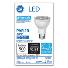 Led Par20 Dimmable Warm White Flood Light Bulb, 2700k, 7 W